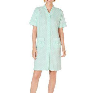 NWT Miss Elaine Women's Short Sleeve Housecoat